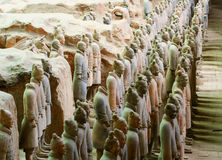 Terracotta Army Soldiers in Pit 1 Royalty Free Stock Photography