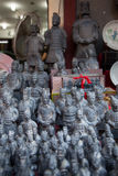 Terracotta army statues at a market stall Royalty Free Stock Photography