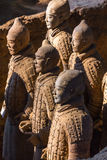 The Terracotta Army or the Terra Cotta Warriors and Horses Stock Photos