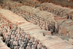 Terracotta Army. The Terra Cotta Warriors of Qin Shi Huang the First Emperor of China near Xi'an, Shaanxi province, China royalty free stock image