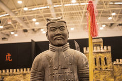 Terracotta Army Warrior at the Festival of the Orient in Rome Italy. The Festival of the Orient was held at the Exhibition Centre near Rome Airport at Fumincino Stock Photo