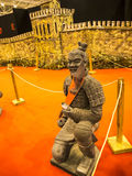 Terracotta Army Warrior at the Festival of the Orient in Rome Italy. The Festival of the Orient was held at the Exhibition Centre near Rome Airport at Fumincino Royalty Free Stock Image