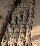 Terracotta Army warriors buried in Emperor tomb outside Xian China. Detail of the pottery terracotta army warriors and soldiers found outside Xi`an China stock photos