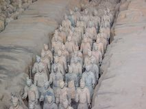 The Terracotta Army warriors at the tomb of China's First Emperor in Xian. Unesco World Heritage site. The Terracotta Army warriors at the tomb of China stock images