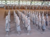 The Terracotta Army warriors at the tomb of China's First Emperor in Xian. Unesco World Heritage site. The Terracotta Army warriors at the tomb of China royalty free stock image
