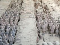 The Terracotta Army warriors at the tomb of China's First Emperor in Xian. Unesco World Heritage site. The Terracotta Army warriors at the tomb of China stock image