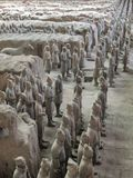 The Terracotta Army warriors at the tomb of China's First Emperor in Xian. Unesco World Heritage site. The Terracotta Army warriors at the tomb of China royalty free stock photo