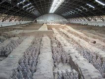 The Terracotta Army warriors at the tomb of China's First Emperor in Xian. Unesco World Heritage site. The Terracotta Army warriors at the tomb of China stock photography