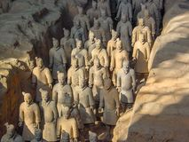 The Terracotta Army warriors at the tomb of China's First Emperor in Xian. Unesco World Heritage site. royalty free stock image
