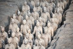 Terracotta Army Warriors. Stock Photo