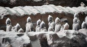 Terracotta Army warriors. royalty free stock photos