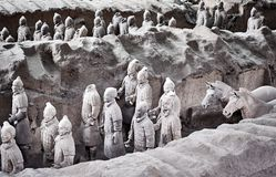 Terracotta Army warriors. stock image