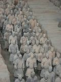 Terracotta Army warriors in Xian China. Xian China, 12 aout 2005: the famous Terracotta Army Soldier and horse funerary statues in Xian China stock image