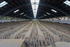 The Terracotta Army in Xi'an Royalty Free Stock Photo