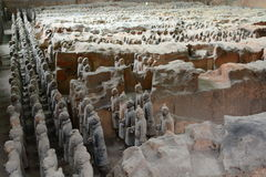 Terracotta army. Xi'An. Shaanxi province. China Royalty Free Stock Image
