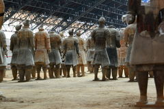 Terracotta army. Xi'An. Shaanxi province. China Royalty Free Stock Photography