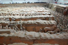Terracotta army. Xi'An. Shaanxi province. China Stock Photos