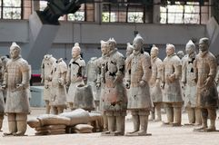 Terracotta army. Xian Royalty Free Stock Photo