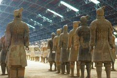 Terracotta army in Xian Royalty Free Stock Photo