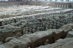 Terracotta army. In Xian, China stock image