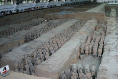 Terracotta army. In Xian, China stock images