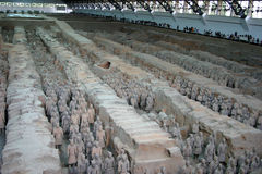 Terracotta army. In Xian, China stock photography