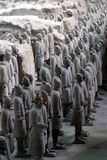 Terracotta army. In Xian, China stock photos