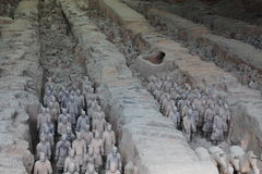 The Terracotta Army of Xian Stock Photos
