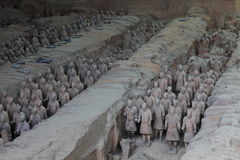 The Terracotta Army of Xian Royalty Free Stock Photo