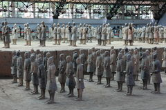 The Terracotta Army of Xian Royalty Free Stock Photos