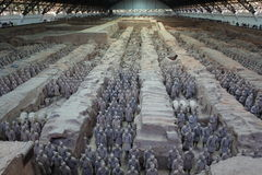 The Terracotta Army of Xian Royalty Free Stock Photography