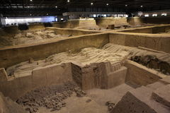 The Terracotta Army of Xian Stock Image