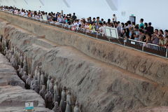 The Terracotta Army of Xian Royalty Free Stock Images