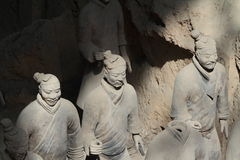 The Terracotta Army of Xian Stock Photo