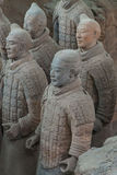 Terracotta Army in Xian. China stock photography