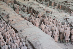 Terracotta Army. XIAN,CHINA -August 23 The Terracotta Army or the Terra Cotta Warriors and Horses buried in pits next to the Qin Shi Huang s tomb in 210-209 BC stock images