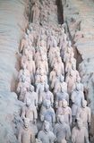Terracotta army. XIAN, CHINA - October 8, 2017: Famous Terracotta Army in Xi'an, China. The mausoleum of Qin Shi Huang, the first Emperor of China contains Royalty Free Stock Photography