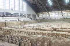 Terracotta army in Xian, China Royalty Free Stock Photo