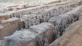 Terracotta army in Xian, China stock photography
