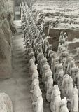 Terracotta Army in Xian. Part of the Terracotta Army in Xian in China stock photography