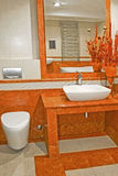 Terracotta bathroom Royalty Free Stock Photos