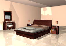 Free Terracotta Bedroom Royalty Free Stock Photography - 11048577