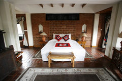 Terracotta bedroom Stock Image