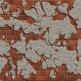 Terracotta Brick Wall. Seamless Tileable Texture. Royalty Free Stock Photography