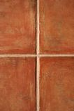 Terracotta ceramic tiles. Closeup of terracotta color ceramic tiles pattern royalty free stock image