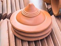 Terracotta chimney Stock Photos