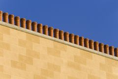 Terracotta chimneys Stock Photo