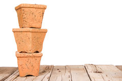 Terracotta or clay gardening pots Stock Image