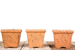 Terracotta or clay gardening pots Royalty Free Stock Photography