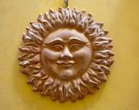 Terracotta clay sun Stock Image